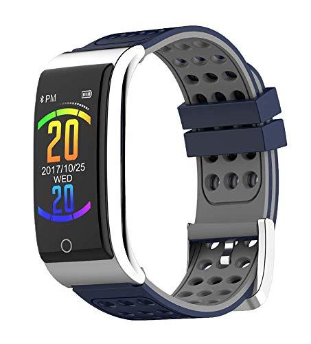 UNOKS Color Screen Smart Bracelet ECG Heart Rate Rate Blood Pressure Monitoring Movement Step Waterproof,Blue