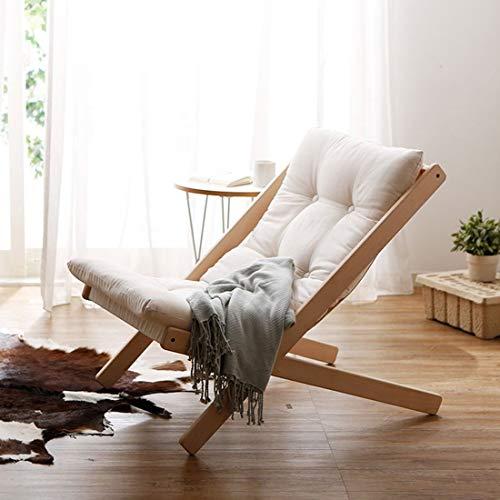 Eeayyygch Lazy People Sofa Einzelsofa Balkonstuhl im japanischen Stil Abnehmbarer und waschbarer...