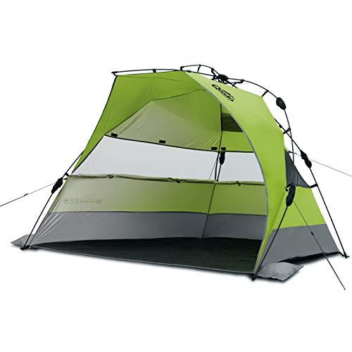Qeedo Strand-Zelt Quick Bay XL mit UV-Schutz (UV80 nach UV-Standard 801) Pop-UP-Strandmuschel - grün