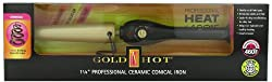 Gold N Hot Ceramic Conical Iron, 1-1/4 Inch Curling Iron