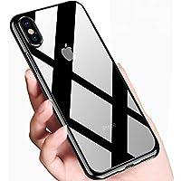 innislink Funda iPhone XS, Cover iPhone X Silicona Case TPU Bumper Anti-Golpes Caso Ultra Slim Anti-Rasguño Cristal Original Protectora Carcasa para Apple iPhone XS iPhone X - Negro