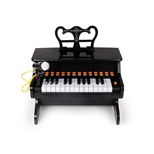 Lingling-tastiera tastiera di puzzle di educazione precoce della tastiera di chiarimento di musica dei bambini del piano (colore : nero)