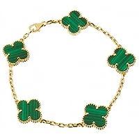 Van cleef bracelet (Green Gold color), Stainless steel أخضر-ذهبى سوار أسورة فان كليف ستانلس ستيل لا يتغير لونه