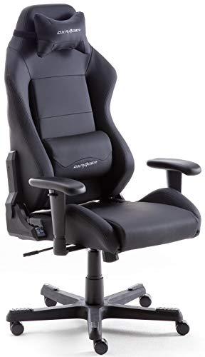 Robas Lund OH/DE01/N DX Racer 3 Gaming-/ Schreibtischstuhl-/ Bürostuhl, schwarz, 74 x 117-127 x 50 cm