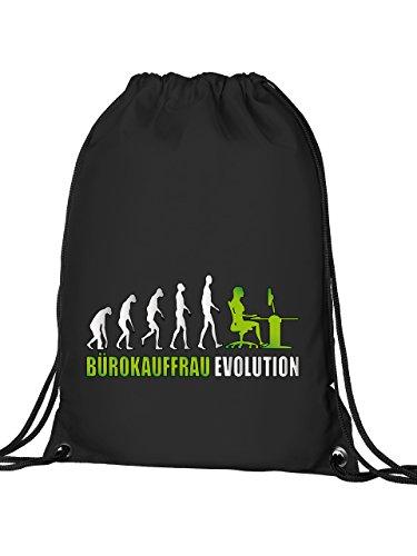 BÜROKAUFFRAU EVOLUTION 4601 Turnbeutel (Schwarz-Grün)
