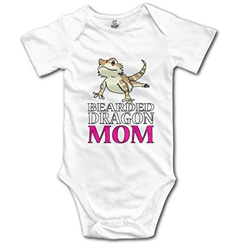U are Friends Bartagame MOM Neugeborenes Mädchen Jungen Kind Baby Strampler Kurzarm Kleinkind Overall(18M,Weiß) Sleeper Pyjamas Pjs