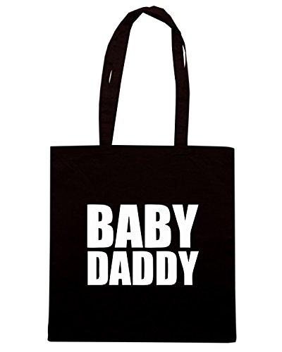 T-Shirtshock - Borsa Shopping FUN0666 baby daddyLRG Nero