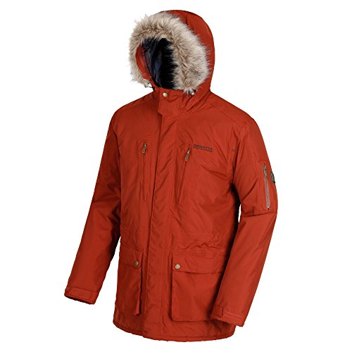 Regatta Herren Salinger Waterproof and Breathable Insulated Hooded Jacke, Brandy Brown, XL - Insulated Hooded Parka