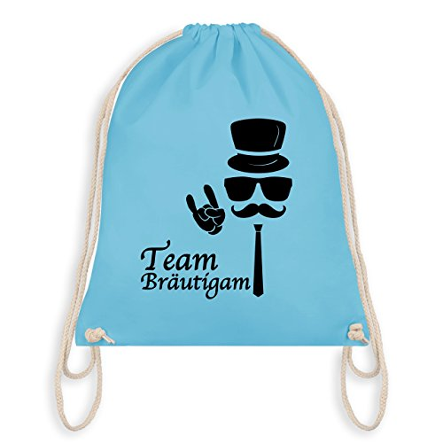 Jga Bachelor Party - Team Groom Hipster Suit Up - Borsa Da Palestra I Gym Bag Blu Chiaro