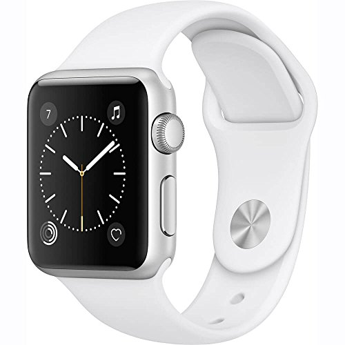 Apple Watch Series 1 38mm Smartwatch (Silver Aluminum Case, White...