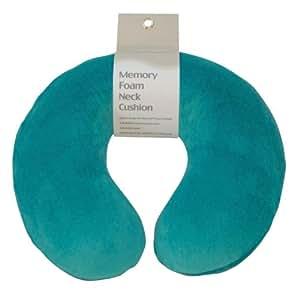 Motionperformance Essentials Super Velour Luxury Memory Foam Comfort Neck Support Cushion (Travelling, Car, Plane, TV, Reading) (Teal Green)