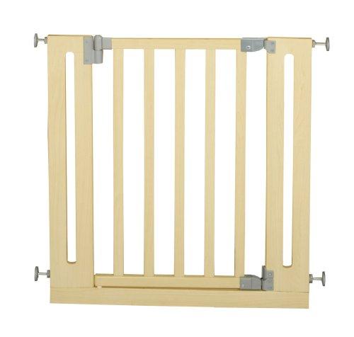 roba Türschutzgitter zum Klemmen, Schutzgitter natur, Klemmgitter mit variabler Breite 77-86cm, Tür- und Treppengitter für Kinder und Haustiere