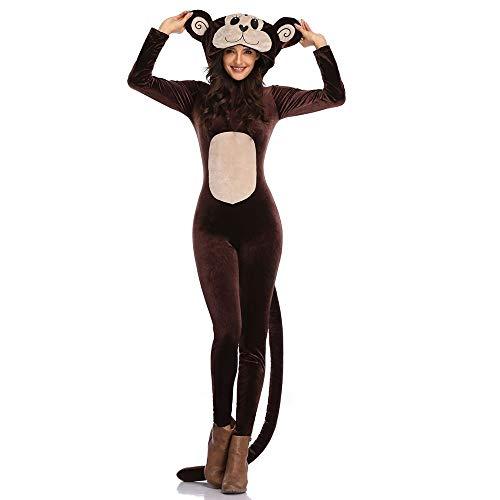 Kostüm Dance Monkey - LPP Damen Halloween Kostüm, Night Field Dance Kostüme Hairy Animal Kostüme Playful Monkey Set Geeignet Für Partys, Tänze, Karnevale,L