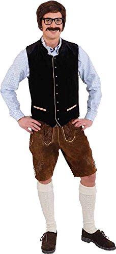 schwarz Futterstoff Herren Tracht Oktoberfest Gr.48/50 (Oktoberfest Herren Trachten)