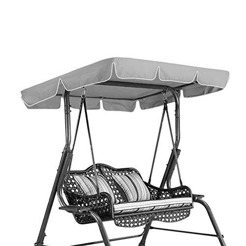 WUHX Swing Canopy, regendichter Anti-UV-Staubschutz, für Veranda-Patio-Garten-Schwingensitze im Freien Schützen Sie Abdeckungen,Gray (Veranda, Patio Set)