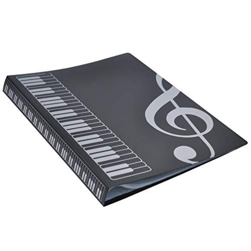 Taohou 80 fogli a4 cartelle del libro di musica inserti di tipo pianoforte forniture per musica fornitura di file
