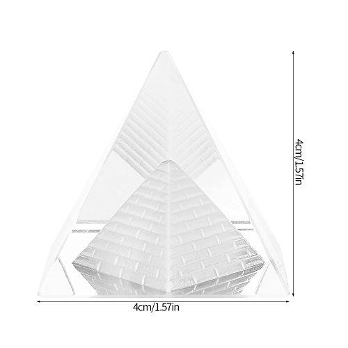 Crystal Pyramids Figurine, Pyramiden Figurine Statue Modell Silber, Feng Shui Handwerk Pyramiden Geschenk