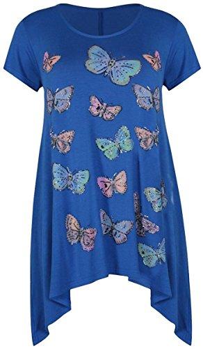 Generic - T-shirt - Manches Courtes - Femme Bleu - Bleu marine