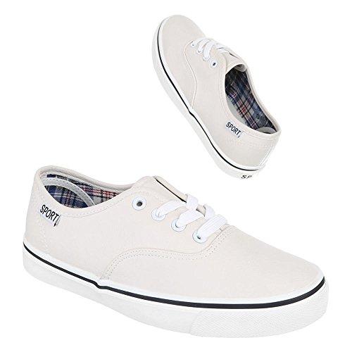 Ital-Design, Sneaker donna Bianco (avorio)