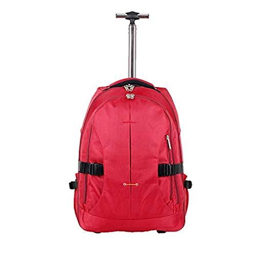 Travelzone® Trolley Zaino Con Ruote e Maniglia Allungabile Bagaglio a Mano o Scuola Capacità 35 Litri (Colore Rosso)