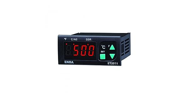 600 °C Relais 8 A SSR Enda ET2011-RT-230 PID Temperaturregler Pt100-100 bis
