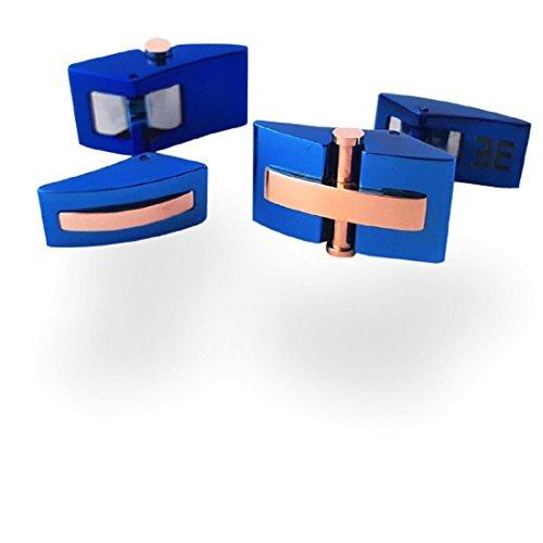 Boutons de manchette Shield X Bleu