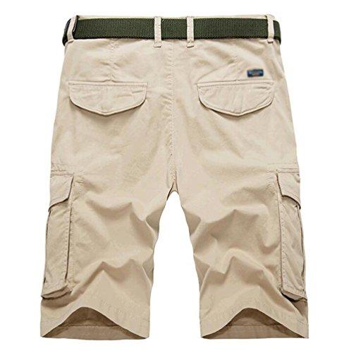 CHENGYANG Uomo Casual Pantaloni Corti Estate Sportivi Shorts Cargo Bermuda con Tasche Multiple Cachi