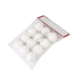Kicode 6 / 12st Weiß Weihnachtsschneeball-Bälle-Party-Anhänger Ornamente Weihnachtsbaum-hängende Dekoration