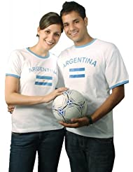 BRUBAKER Argentinien Fan T-Shirt Weiß Gr. S - XXXL