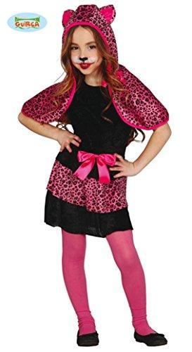 Guirca Pinkes Leoparden Kostüm für Mädchen Gr. 110-146, Größe:128/134