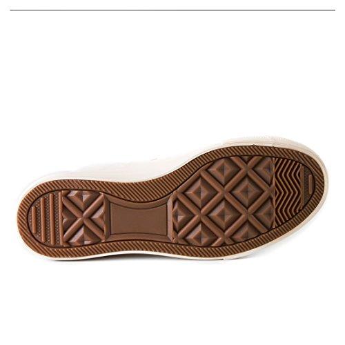 Klassische Unisex Damen Herren Schuhe Low High Top Sneaker Turnschuhe All Beige High