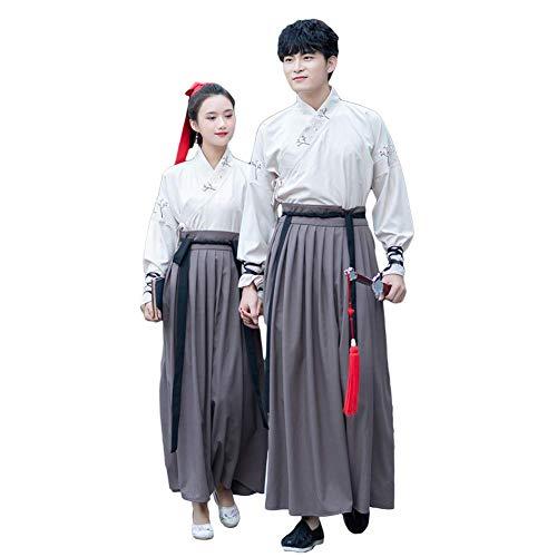 Mann Kostüm Chinesischen - Susichou Chinesische Art, Kleidung der Männer und der Frauen, Abschlussfoto, altes Kostüm, Kampfkünste, Paare, Leistungskleidung (XXXL)
