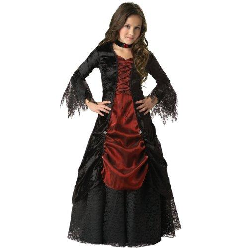 Gothic Vampir Vampira Vampiress Kostüm für Kinder - Gr. 12 (146cm-152cm)
