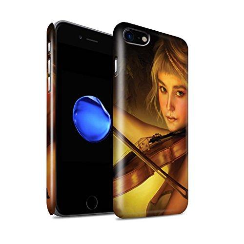 Officiel Elena Dudina Coque / Clipser Brillant Etui pour Apple iPhone 7 / Chanson de Fleurs Design / Réconfort Musique Collection Beauté/Violon