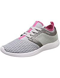 Power Women's Glide Funnel L.Grey and Pink Running Shoes-6 UK (39 EU) (5082193)