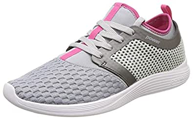 Power Women's Glide Funnel L.Grey and Pink Running Shoes-4 (5082193)