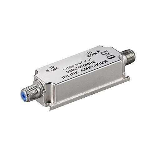Goobay 67056 SAT-Antennenverstärker 950 MHz, 2400 MHz, Strecken-Nahverstärker zur Anhebung von Signalen