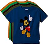 KGB Multicolor Embroidered Cotton T Shirt for Boys - Pack of 5
