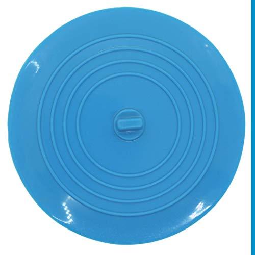 Universal Stöpsel für Spülbecken & Waschbecken, mit 15 cm Durchmesser, für alle Abflüsse bis 120 mm, aus Silikon, perfekt für Küche & Bad, nicht schmutz-anfälliger Abfluss-Stöpsel, Ablaufstöpsel blau