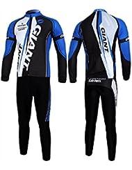 ¿Invierno para hombre a prueba térmica de ciclismo para mallas pantalones cortos camiseta mangas largas acolchada chaqueta conjuntos?, hombre, color Morado - Color 7, tamaño XL
