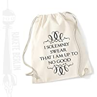 Turnbeutel Rucksack Baumwolle ' I solemnly swear that i am up to no good '