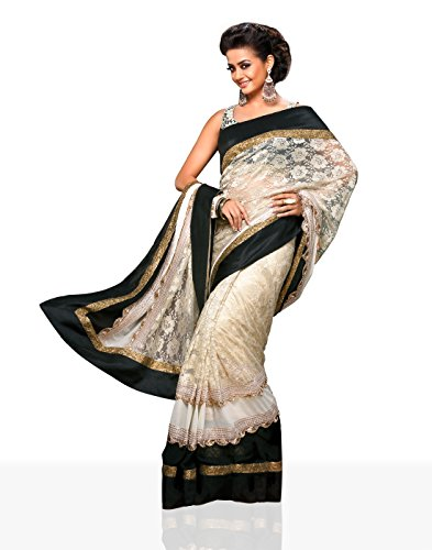 Chirag Sarees Synthetic Saree (4402-A_Black)