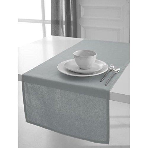 Today Tischläufer Baumwolle 50x 150cm, Baumwolle, grau, 50x150 cm