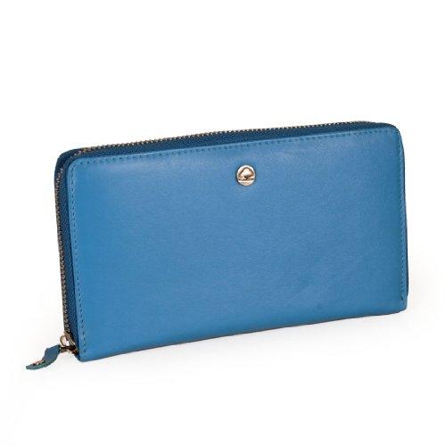 Greenburry Spongy - Portamonete in pelle, 19 cm inchiostro blu