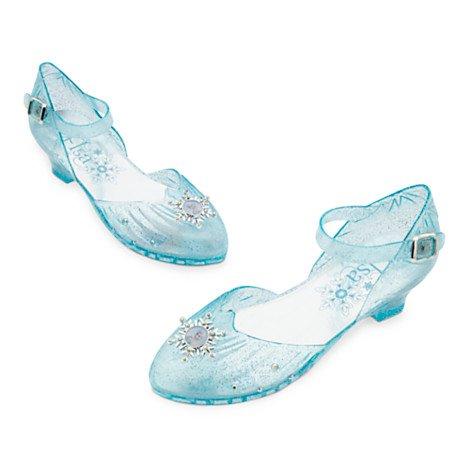Eingefroren Kostüme (Elsa Aufleuchten-Kostüm-Schuhe für Kinder, Angespornt durch Elsa von Eingefroren, Licht-up Ferse, Größe UK 13-1 / EU)