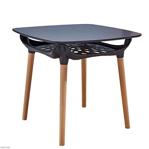 TX ZHAORUI Einfacher Verhandlungstisch Rund Tisch Massivholz Freizeit Runden Tisch Haushalt Quadratischen Tisch Massivholz Tischbeine Doppel Tisch Quadratisch Quadrat,Black -
