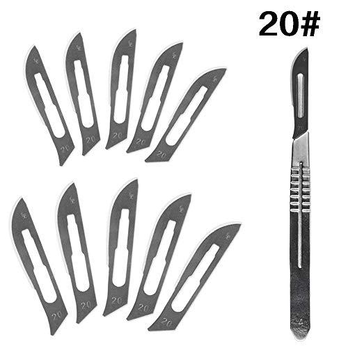 HINTER Carbon-Stahl chirurgische Skalpell-Klingen + 1 Stück 4# Griff Skalpell DIY Schneidwerkzeug...