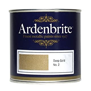 Ardenbrite : Metallic Paint : 250ml : Deep Gold (By Road Parcel Only)