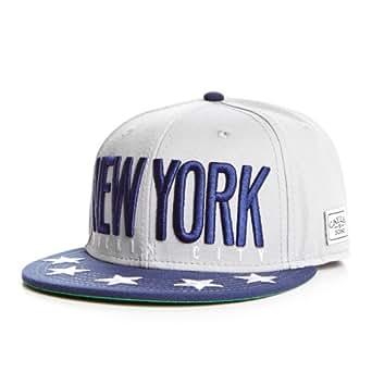 Cayler and Sons New York City Snapback Gris Deep Bleu Marine Blanc