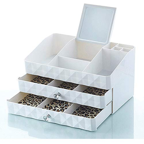 DFRgj Kosmetische Aufbewahrungsbox Makeup Organizer - Fächer zum Organisieren und Aufbewahren von Kosmetik-Make-up und Zubehör , Sitzen ordentlich auf Eitelkeit oder Badezimmer-Arbeitsplatte - Badezimmer-eitelkeit-sitz